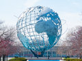 Big globe huge standing in flushing meadows in queens nyc Royalty Free Stock Photos