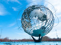 Big globe huge standing in flushing meadows in queens nyc Royalty Free Stock Photography
