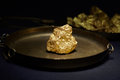Big gold nugget Royalty Free Stock Photo
