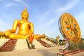 The big golden buddha statue of wat moung in angthong province thailand Royalty Free Stock Photos