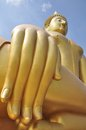 The Big Golden Buddha at Wat Muang Royalty Free Stock Images
