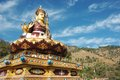 Big golden statue of Padmasambhava or Guru Rinpoche,India Royalty Free Stock Photo