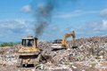 Big grabage heap problem of pollution Stock Photos