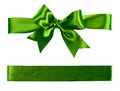 Big green bow made from silk Royalty Free Stock Photo