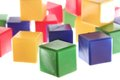 Big green cube is the leader Royalty Free Stock Photo