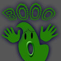 Big green ghost Royalty Free Stock Photos