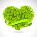 Big green heart Royalty Free Stock Photo
