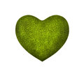 Big green heart on white background Stock Photos