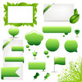 Big Green Set. Vector Stock Images