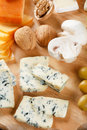 Big group of cheeses Stock Photos