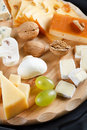 Big group of cheeses Royalty Free Stock Image