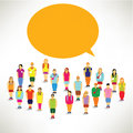 A big group of children gather together vector design Royalty Free Stock Image