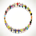 A big group of people gather together in circle shape vector design Stock Photos