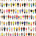 A big group of people gather together seamless vector design Royalty Free Stock Image
