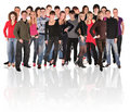 Big group of young people Royalty Free Stock Photo