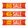 Big half price and one day sale banners illustration Stock Photo