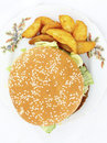 A big hamburger Royalty Free Stock Photos