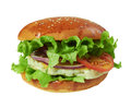 Big hamburger Stock Photography