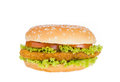 Big hamburger with vegetable background Royalty Free Stock Photo