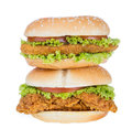 Big hamburger with vegetable background Royalty Free Stock Photography