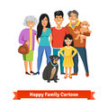 Big happy family standing together with smiles Royalty Free Stock Photo