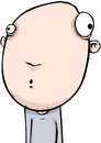 Big headed startled man cartoon character illustration of a with a huge head Stock Photos