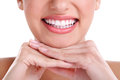Big healthy smile beautiful close up Royalty Free Stock Image