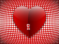 Big heart on halftone background Stock Image