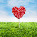 Big heart lollipop Stock Image