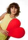 Big heart for mommy Stock Photo