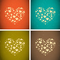 Big hearts made from little hearts Royalty Free Stock Photo