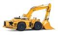 Big heavy excavator isolated on white background Royalty Free Stock Photo