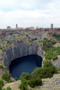 The big hole in kimberley south africa it is an open pit and underground diamond mine and claimed to be largest excavated Stock Images