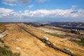 The big hole, lignite (brown coal) strip mining Garzweiler, Germ Royalty Free Stock Photo
