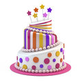 Big holiday cake Royalty Free Stock Photo