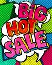 Big Hot Sale Message in pop art style