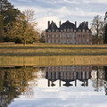 Big house inn Bourgogne Royalty Free Stock Image