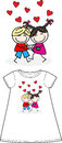 A big hug shirt pattern children fashion industry manufacturing Royalty Free Stock Photo
