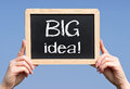 Big idea sign Royalty Free Stock Photo