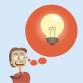 Big idea thought bubble with for business eps Stock Photo