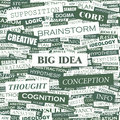 Big idea word cloud concept illustration wordcloud collage Stock Photos