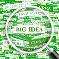 Big idea word cloud illustration tag cloud concept collage usable for different business design Royalty Free Stock Photos