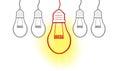 Big Ideas creative light bulb Royalty Free Stock Photo