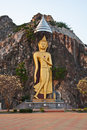 Big image of buddha on cliff Stock Photos