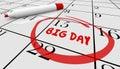 Big Important Day Date Reminder Circled Calendar