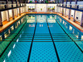 Big indoor swimming pool historical large hall suitable for competition events Stock Images