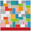 Big infographic squares background with colorful eps file Stock Photo