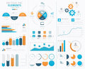Big infographic vector elements collection to disp modern business display Stock Photos