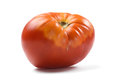 Big juicy red ripe organic tomato isolated Royalty Free Stock Photo