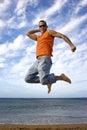 Big jump Stock Images